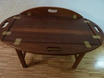 Antique butler´s tray / table  solid Mahagony in Stuttgart, GE