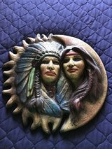Native American Sun & Moon Couple Wall or Outdoor Decor in Morris, Illinois