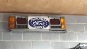 Antique Ford sign will attach to grill in Cherry Point, North Carolina