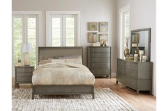 NEW! QUALITY ~ UPSCALE GREY FINISHED QUEEN BED SET in Camp Pendleton, California