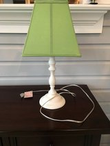 Pottery Barn Kids White Payton Table Lamp + Green Parker Shade in Chicago, Illinois