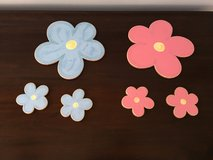 Saraboo Creek Wall Decor for Little Girls Room: Blue and Pink Flowers in Chicago, Illinois