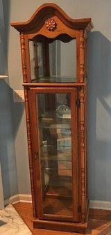 Beautiful Curio Cabinet - Oak & Glass in Wilmington, North Carolina