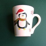 PENGUIN CHRISTMAS HOLIDAY MUG in Naperville, Illinois