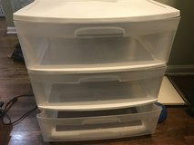 Large 3 drawer sterilite cart in Bartlett, Illinois