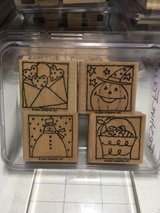 Stampin Up stamp sets, wood mount, gently used in Lockport, Illinois