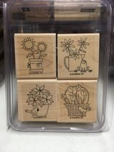 Stamp sets from Stampin Up, wood mounted, very gently used in Lockport, Illinois