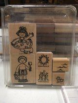 Stampin Up wood mounted retired stamp sets, gently used in Lockport, Illinois