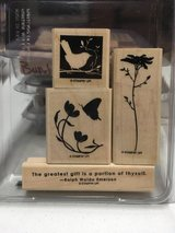 Stampin Up stamp sets, wood mounted and gently used in Lockport, Illinois