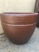 Large Brown Ceramic Planter in Camp Pendleton, California