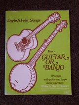 folk songs sheet music book for guitar or banjo in Lakenheath, UK