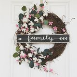 Family Spring Wreath in Beaufort, South Carolina
