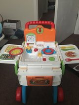vtech 2-in-1 learning grocery cart/kitchen in Fort Campbell, Kentucky