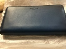 Beautiful new coach two toned navy blue accordian wallet in Camp Lejeune, North Carolina