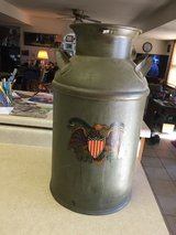 Milk Can (with eagle decal) in Fort Leonard Wood, Missouri