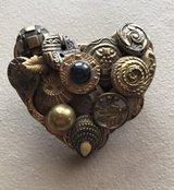 Handmade Brooch with antique buttons in Sugar Grove, Illinois