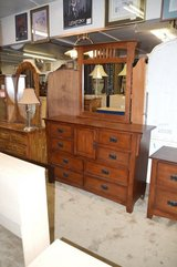 Mission Oak Dresser & Mirror in Tacoma, Washington