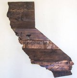 Pallet Art State Map - Stained (California) in Camp Pendleton, California