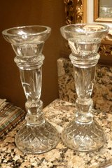 24% LEAD CRYSTAL CANDLE STICK HOLDERS, NEW IN BOX (8 BOXES TOTAL) 85% OFF PRICE in Katy, Texas