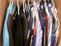 DOZENS OF MEN'S ON HANGERS/PRESSED SHORT & LONG SLEEVE SHIRTS (CASUAL & DRESS) in Katy, Texas