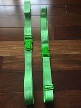 "2 Samsonite Luggage Straps - Neon Green - 68"" Long in Bolingbrook, Illinois"