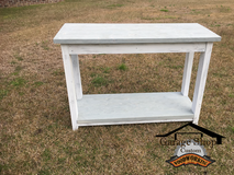 Handmade solid wood rustic style console/entryway table in Camp Lejeune, North Carolina