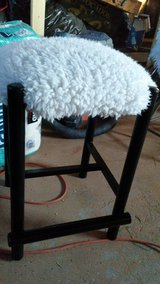 fuzzy white stool in Yucca Valley, California