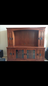 Entertainment center   Solid wood in Travis AFB, California