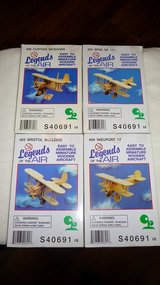 4 - Wooden Air Plane models, new in package in Okinawa, Japan