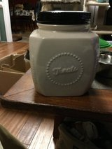 Ceramic cookie jar, says Treats on the side in Camp Lejeune, North Carolina