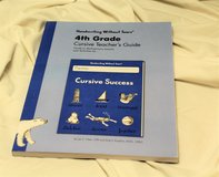 4th Grade Cursive Teacher's Guide by Jan Z. Olsen and Emily F. Knapton 2013 in Kingwood, Texas