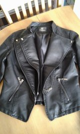 PU Leather jacket size 8 uk in Lakenheath, UK