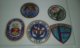 5 ship patches u.s.navy in Cherry Point, North Carolina