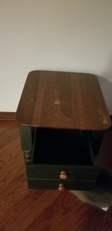 green side table with drawer in New Lenox, Illinois