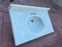 Marble one-piece bathroom sink and table top 36x22 in Vacaville, California