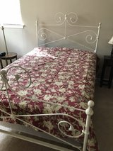 Full-Size White Iron Bed in Spring, Texas