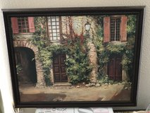 Framed Painting - Tuscany Italy House Paris Europe Old Street in The Woodlands, Texas