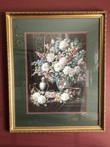 Framed and Matted Painting - Flowers in a Vase in The Woodlands, Texas