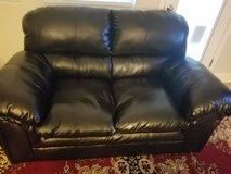 Real Leather Loveseat!! in Fort Sam Houston, Texas