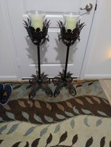 To antique looking floor candles 36in High battery operated in Conroe, Texas