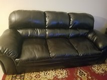 Real Leather Sofa!! in Fort Sam Houston, Texas