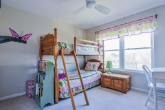 ADORABLE Girls Bedroom Set- Bunk/Twin Beds, Dresser, Toy Chest in Shorewood, Illinois