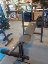 Weight Bench- Gold's Gym XR 6.1 with bar in Fort Irwin, California