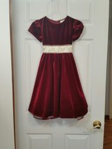 Girl's Burgundy Velvet Dress size 6x in Salina, Kansas