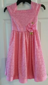 Girl's Pink Eyelet Dress size 6x in Salina, Kansas