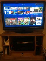 Samsung 40in Aquos TV and stand in Lakenheath, UK