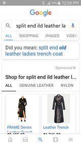 Split end womans leather trench coat in Kissimmee, Florida