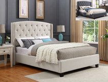 BRAND NEW! QUEEN LINEN TUFTED UPSCALE BEDFRAME in Camp Pendleton, California