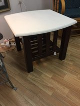 Table White distressed with mahogany base in Fort Campbell, Kentucky