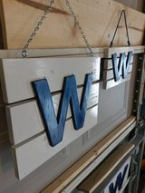 CUBS Handmade W Wood Signs in Bolingbrook, Illinois